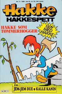 Cover Thumbnail for Hakke Hakkespett (Semic, 1977 series) #11/1989