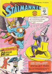 Cover Thumbnail for Stålmannen (Centerförlaget, 1949 series) #13/1965