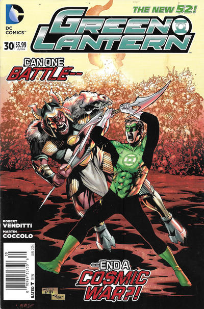 Cover for Green Lantern (DC, 2011 series) #30 [Newsstand]