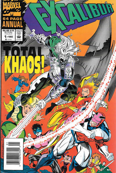 Cover for Excalibur Annual (Marvel, 1993 series) #1 [Newsstand]
