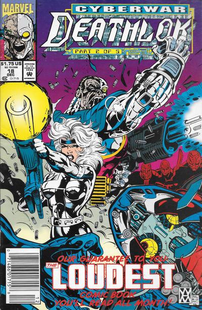 Cover for Deathlok (Marvel, 1991 series) #18 [Direct]