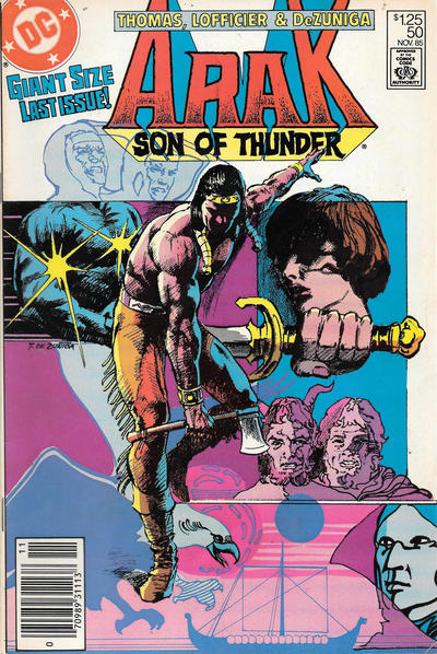 Cover for Arak / Son of Thunder (DC, 1981 series) #50 [Newsstand]