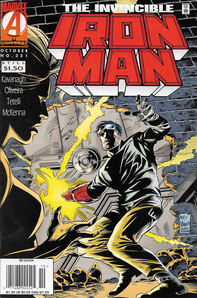 Cover for Iron Man (Marvel, 1968 series) #321 [Direct Edition]