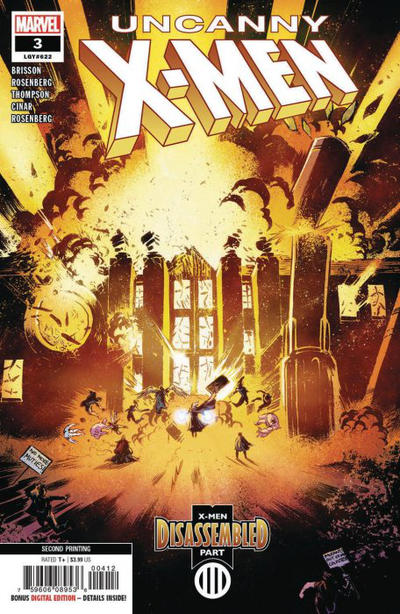 Cover for Uncanny X-Men (Marvel, 2019 series) #3 (622) [Second Printing]