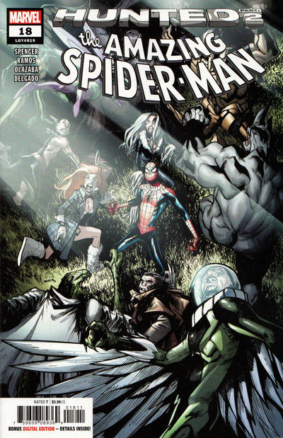 Cover for Amazing Spider-Man (Marvel, 2018 series) #18 (819) [Variant Edition - Leinil Francis Yu Connecting Cover]