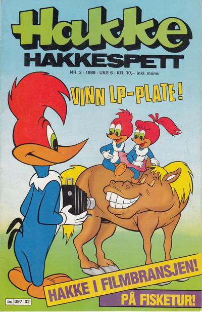 Cover for Hakke Hakkespett (Semic, 1977 series) #2/1989