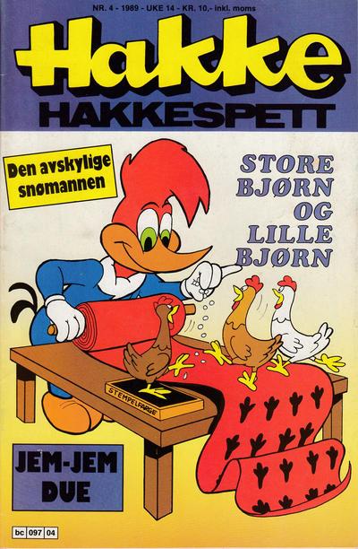 Cover for Hakke Hakkespett (Semic, 1977 series) #4/1989