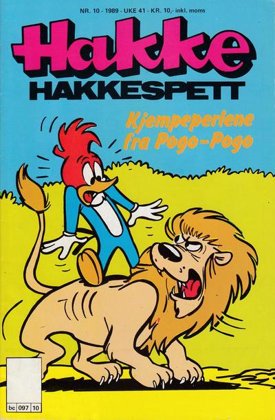Cover for Hakke Hakkespett (Semic, 1977 series) #10/1989