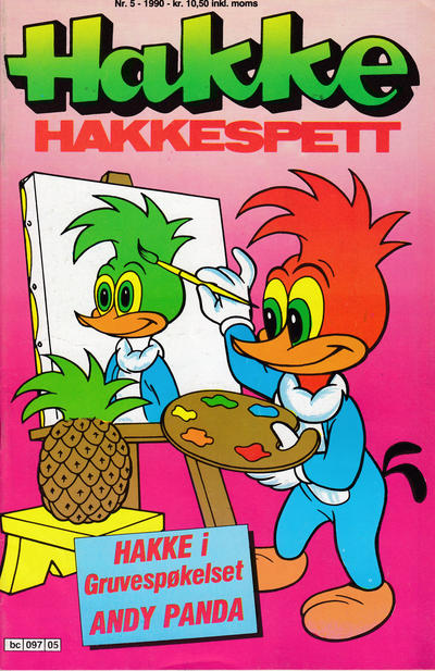 Cover for Hakke Hakkespett (Semic, 1977 series) #5/1990