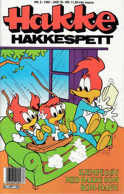 Cover for Hakke Hakkespett (Semic, 1977 series) #3/1991