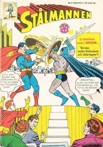 Cover for Stålmannen (Centerförlaget, 1949 series) #5/1966