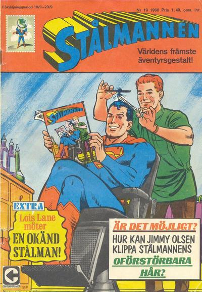 Cover for Stålmannen (Centerförlaget, 1949 series) #19/1968