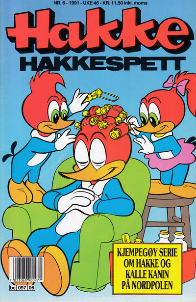 Cover for Hakke Hakkespett (Semic, 1977 series) #6/1991