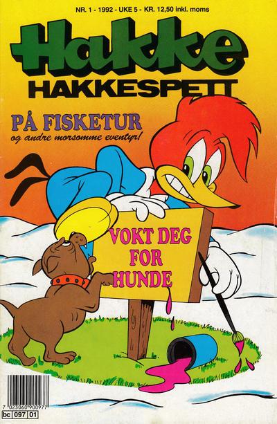 Cover for Hakke Hakkespett (Semic, 1977 series) #1/1992