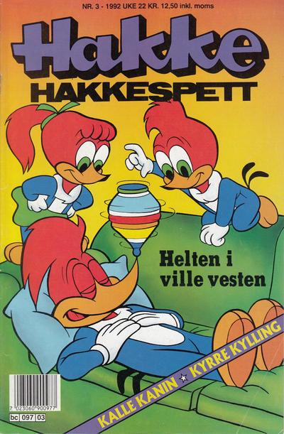 Cover for Hakke Hakkespett (Semic, 1977 series) #3/1992