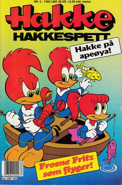Cover for Hakke Hakkespett (Semic, 1977 series) #5/1992