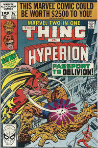 Cover Thumbnail for Marvel Two-in-One (Marvel, 1974 series) #67 [British]
