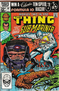 Cover for Marvel Two-in-One (Marvel, 1974 series) #81 [Direct]