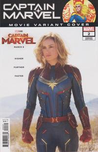 Cover Thumbnail for Captain Marvel (Marvel, 2019 series) #2 [Photo 'Movie Variant' Cover]