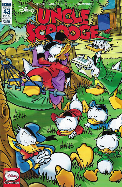 Cover for Uncle Scrooge (IDW, 2015 series) #43 / 447 [Retailer Incentive Cover - Paolo Mottura]