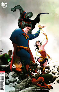 Cover Thumbnail for Justice League (DC, 2018 series) #21 [Jae Lee Variant Cover]