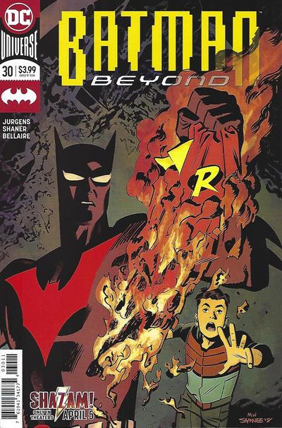 Cover for Batman Beyond (DC, 2016 series) #30 [Chris Samnee Cover]