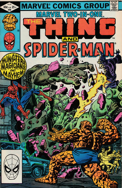 Cover for Marvel Two-in-One (Marvel, 1974 series) #90 [Newsstand]