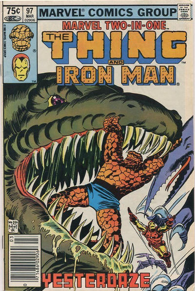 Cover for Marvel Two-in-One (Marvel, 1974 series) #97 [Newsstand]
