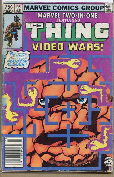 Cover for Marvel Two-in-One (Marvel, 1974 series) #98 [Newsstand]