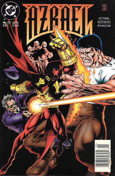 Cover for Azrael (DC, 1995 series) #12 [Direct Sales]