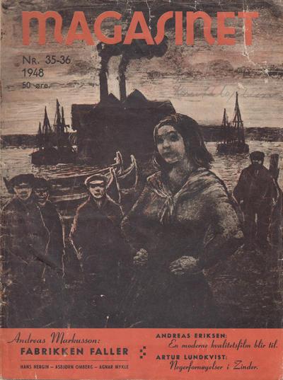 Cover for Magasinet (Oddvar Larsen; Odvar Lamer, 1946 ? series) #35-36/1948