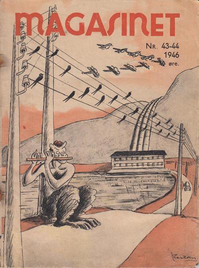 Cover for Magasinet (Oddvar Larsen; Odvar Lamer, 1946 ? series) #43-44/1946
