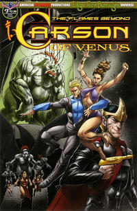 Cover Thumbnail for Edgar Rice Burroughs' Carson of Venus: The Flames Beyond (American Mythology Productions, 2019 series) #3 [Cyrus Mesarcia Cover]