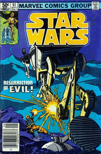 Cover Thumbnail for Star Wars (Marvel, 1977 series) #51 [Newsstand]