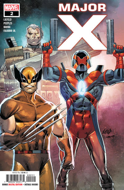 Cover for Major X (Marvel, 2019 series) #2 [Rob Liefeld Cover]