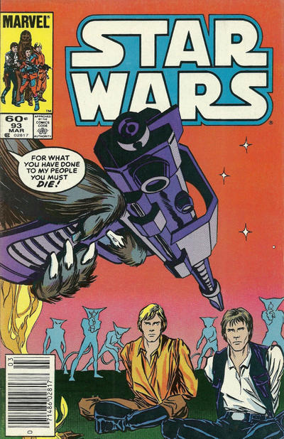 Cover for Star Wars (Marvel, 1977 series) #93 [Direct]