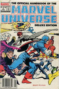 Cover Thumbnail for The Official Handbook of the Marvel Universe (Marvel, 1985 series) #2 [Canadian]