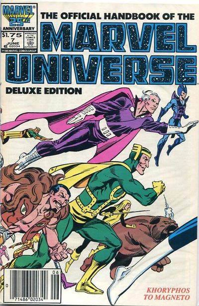 Cover for The Official Handbook of the Marvel Universe (Marvel, 1985 series) #7 [Direct]