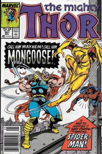 Cover Thumbnail for Thor (Marvel, 1966 series) #391 [Newsstand]