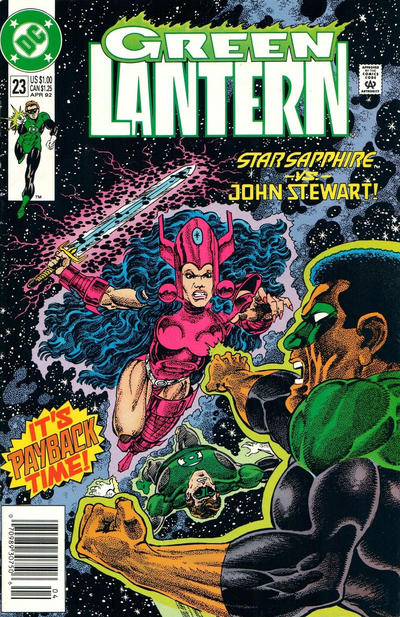 Cover for Green Lantern (DC, 1990 series) #23 [Direct]