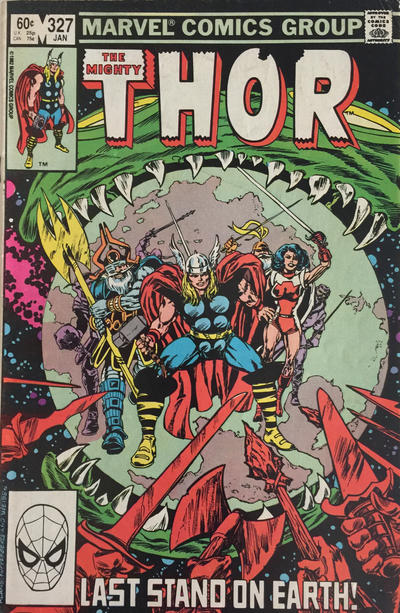 Cover for Thor (Marvel, 1966 series) #327 [Canadian]