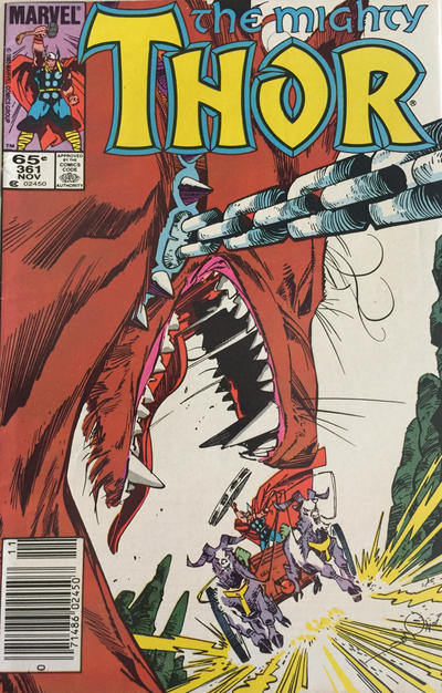 Cover for Thor (Marvel, 1966 series) #361 [Direct]