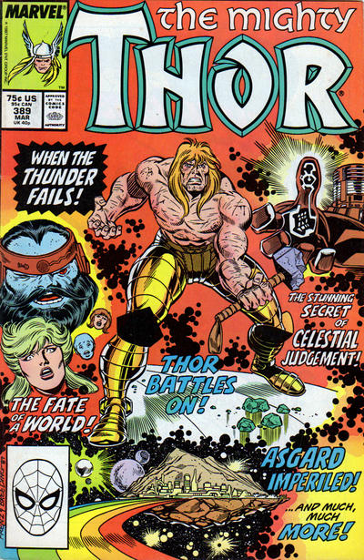 Cover for Thor (Marvel, 1966 series) #389 [Newsstand]