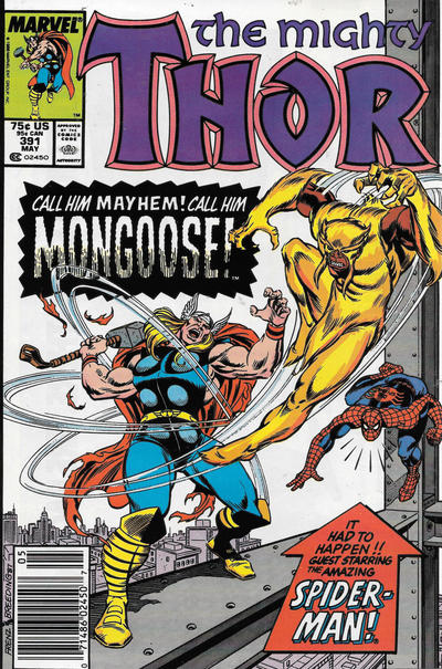 Cover for Thor (Marvel, 1966 series) #391 [Newsstand]