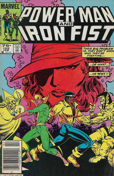 Cover for Power Man and Iron Fist (Marvel, 1981 series) #102 [Newsstand]