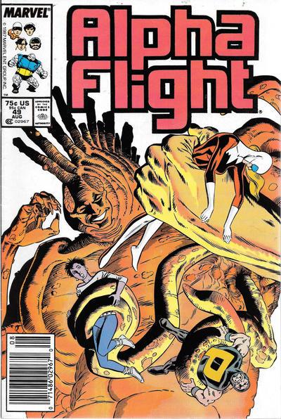 Cover for Alpha Flight (Marvel, 1983 series) #49 [Direct]