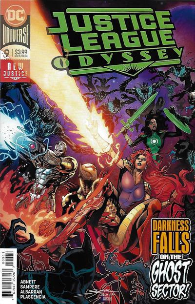 Cover for Justice League Odyssey (DC, 2018 series) #9 [Daniel Sampere & Juan Albarran Cover]