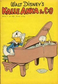 Cover Thumbnail for Kalle Anka & C:o (Richters Förlag AB, 1948 series) #7/1952
