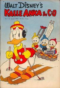 Cover Thumbnail for Kalle Anka & C:o (Richters Förlag AB, 1948 series) #1A/1954