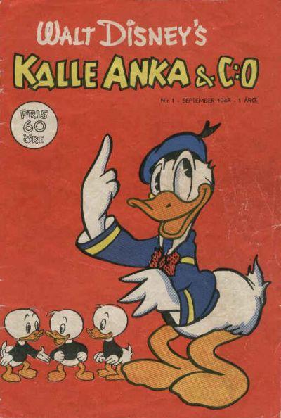 Cover for Kalle Anka & C:o (Richters Förlag AB, 1948 series) #1/1948
